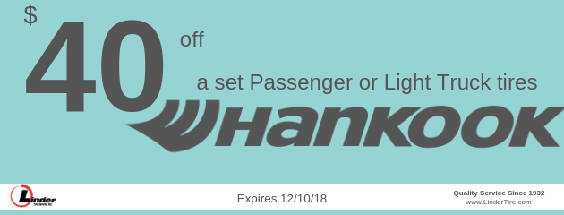 $40 off Hankook