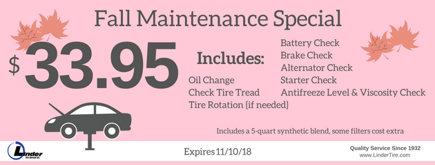 October Fall Maintenance Special