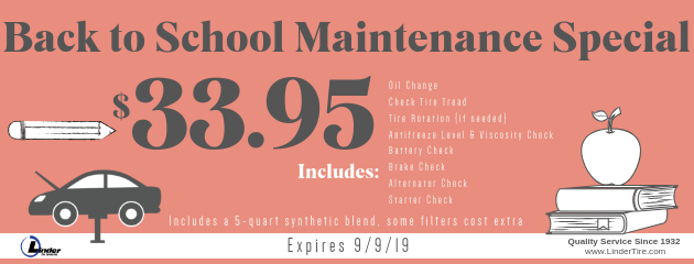 Back To School Maintenance