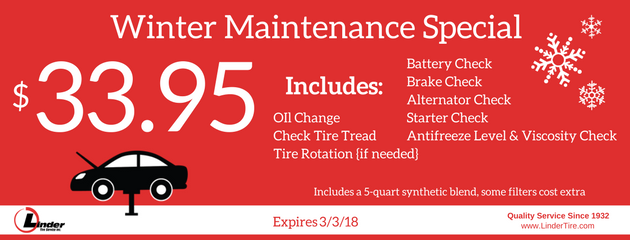 February Winter Maintenance Special